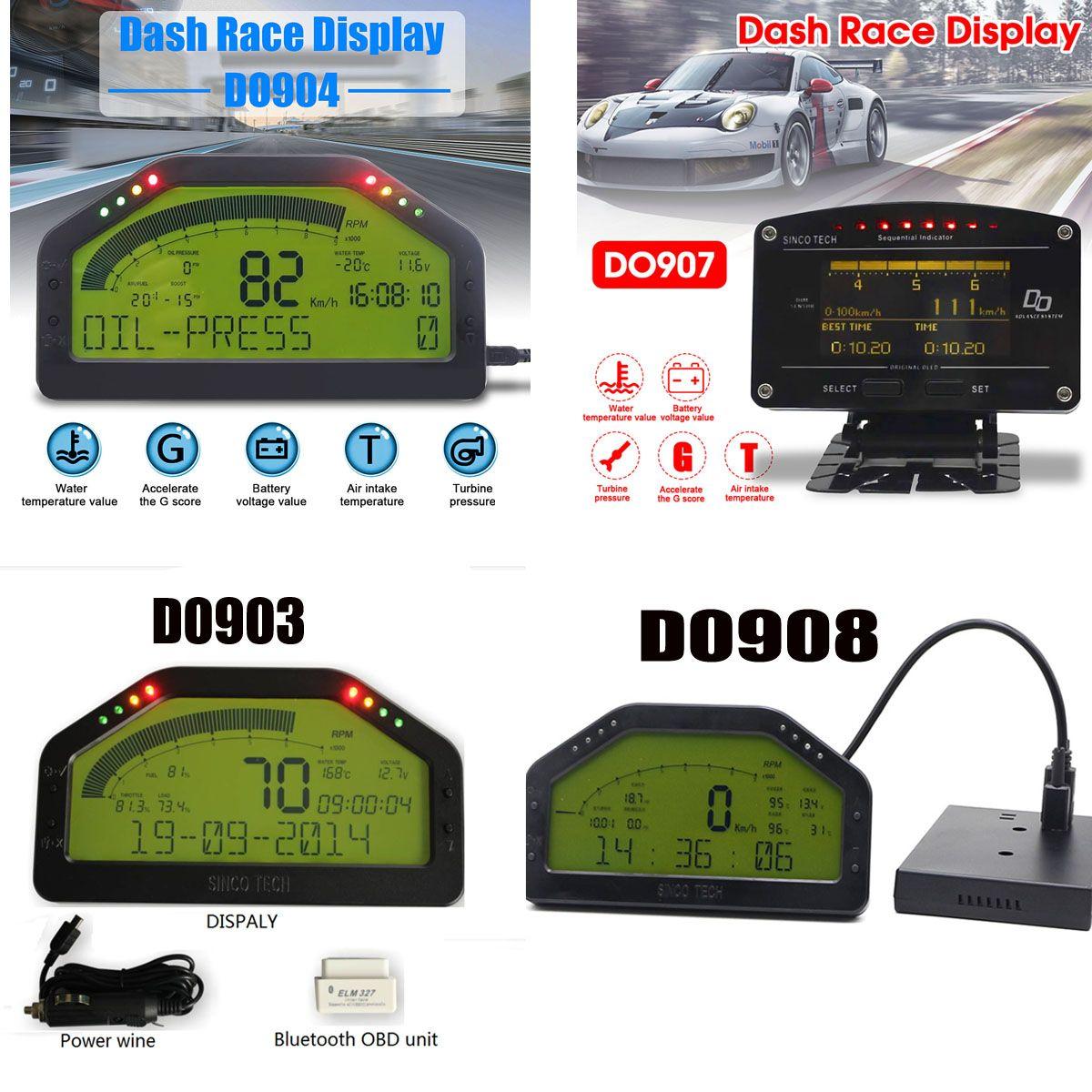 Waterproof Dash Race Display Full Sensor Kit LCD Screen OBD Bluetooh Connection Universal Dash Board DO903 DO904 DO907 DO908