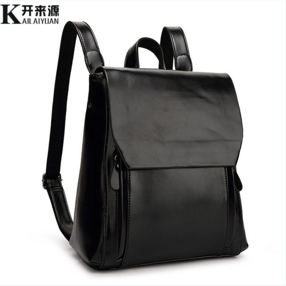 KLY 100% Genuine leather Women backpack 2018 New Leather Women Backpack Mochila Feminina School Bags for Teenagers