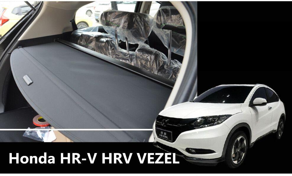 Car Rear Trunk Security Shield Cargo Cover For Honda HR-V HRV VEZEL 2014.2015.2016.2017 High Qualit Black Beige Auto Accessories