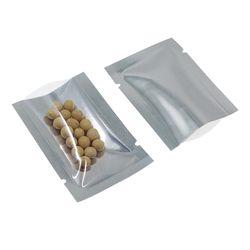 100 Pcs/Lot 5x7 cm Jelas/Perak Terbuka Atas Aluminium Foil Makanan Penyimpanan Paket Tas Mylar Foil Panas vakum Segel Camilan Kantong