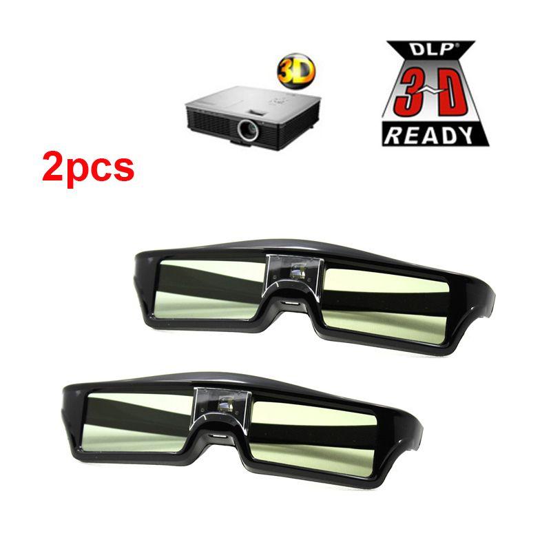 2 шт. 3d активные Очки DLP-Link 3D Очки для xgimi z4x/H1/Z5 Optoma Sharp LG acer H5360 jmgo BenQ W1070 Проекторы