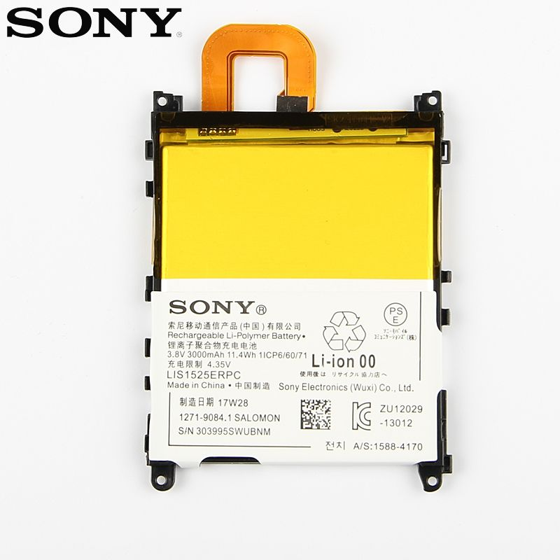 Original Replacement Sony Battery For SONY L39h <font><b>Xperia</b></font> Z1 Honami SO-01F C6902 C6903 LIS1525ERPC Genuine Phone Battery 3000mAh