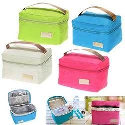 Viajes Oxford tinfoil aislados refrigerador térmico bolsa de picnic impermeable bolsa de almuerzo para niños adultos populares