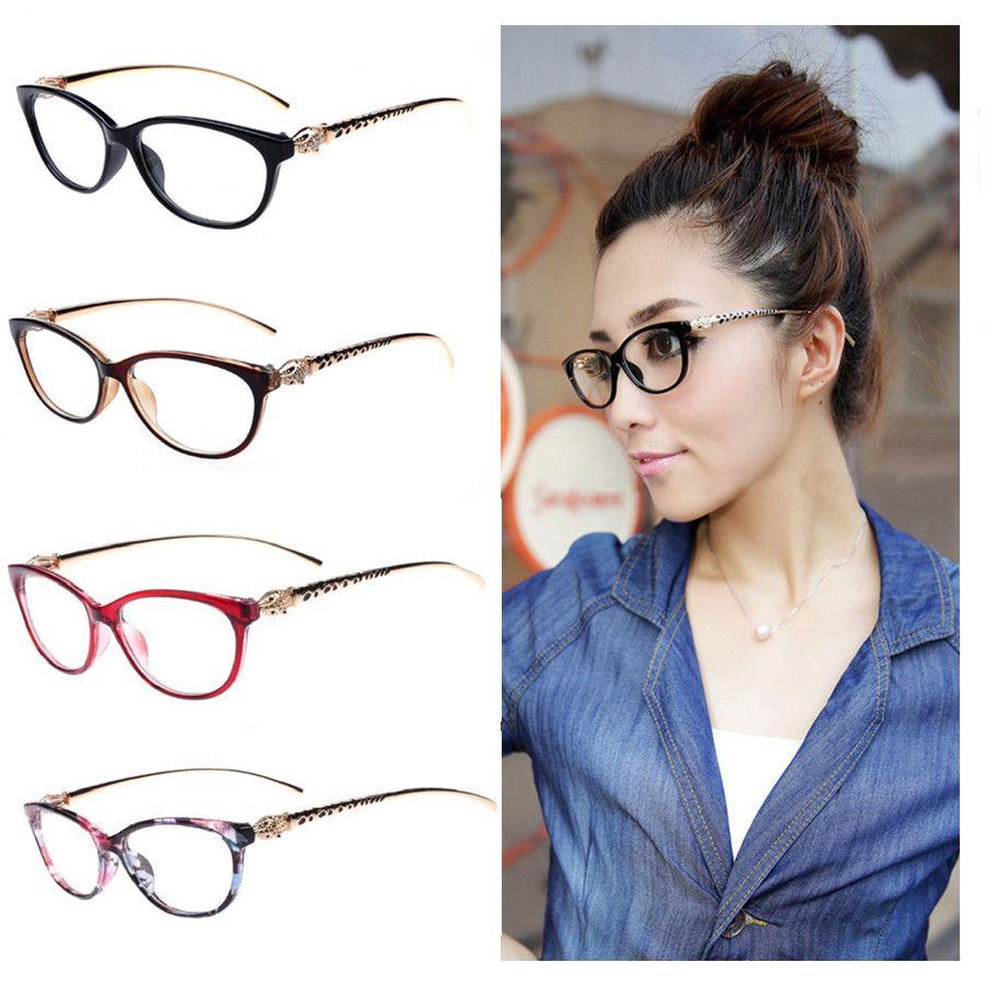 8 Colors 2017 Fashion Cheetah Earstems Glasses frames Women Ladies Leopard Decorative Reading Glasses Frame Eyeglasses No Degree