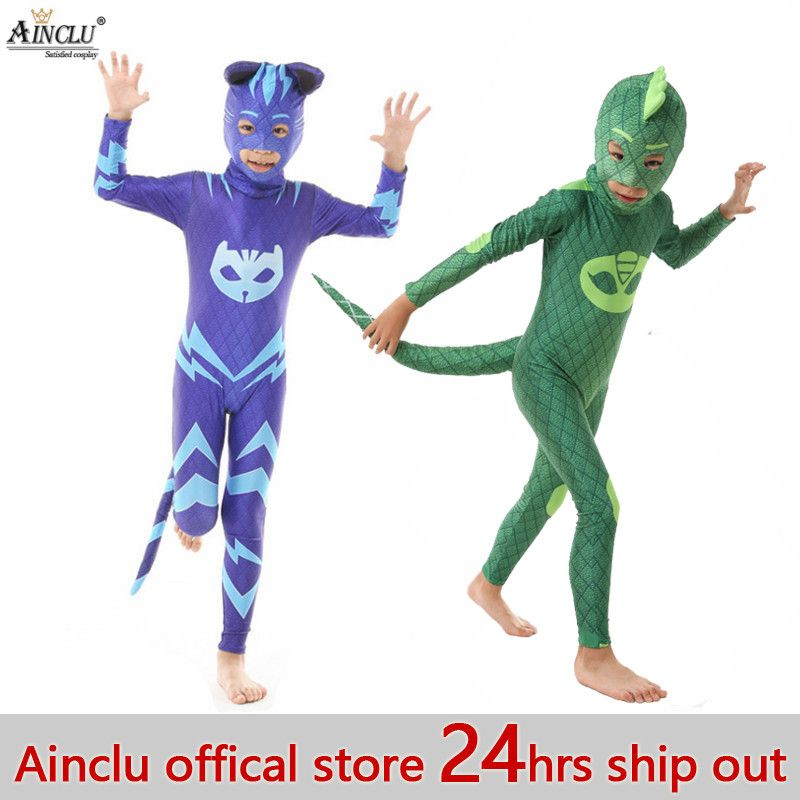 Ainclu 24 hrs Out Amaya Cosplay Costume Gekko Catboy Birthday Party Halloween Costumes With Headgear For Kids Free shipping