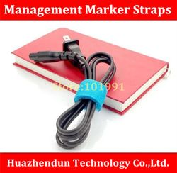 Free Shipping 30pcs/lot New Power Tidy Wire Management Marker Straps for Computer Cable Manages Office Arrange Nylon Bandage