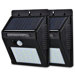 LED Solar Power PIR Motion Sensor Wall Light 20 LED Outdoor Waterproof Energy Saving Street Yard Path Home Garden Security Lamp