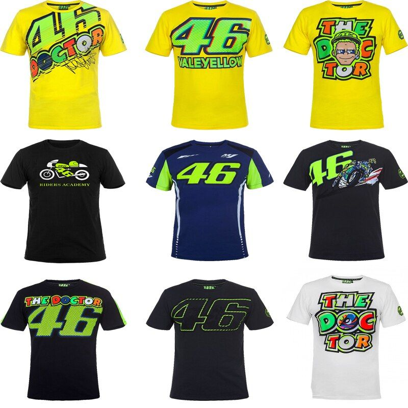 VR46 Valentino Rossi T-Shirt Moto GP 46 The Doctor Signature Motorcycle Racing Sports for Yamaha T shirt