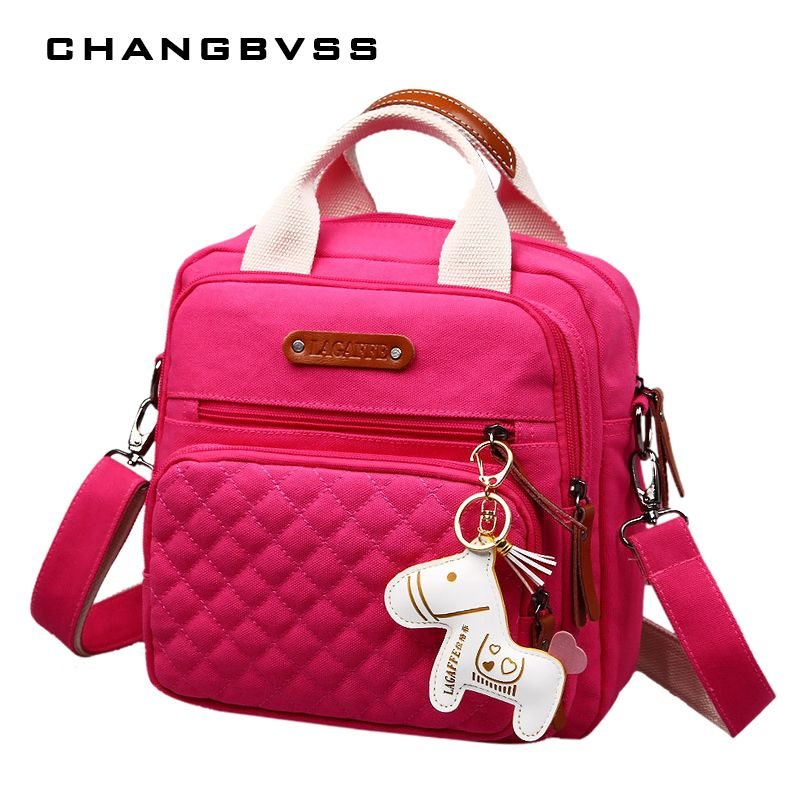 High <font><b>Level</b></font> Canvas Colorful Mommy Diaper Bag Baby Nappy Bags Maternity Mommy Women Backpack/Handbag/Messenger Three-In-One Bag