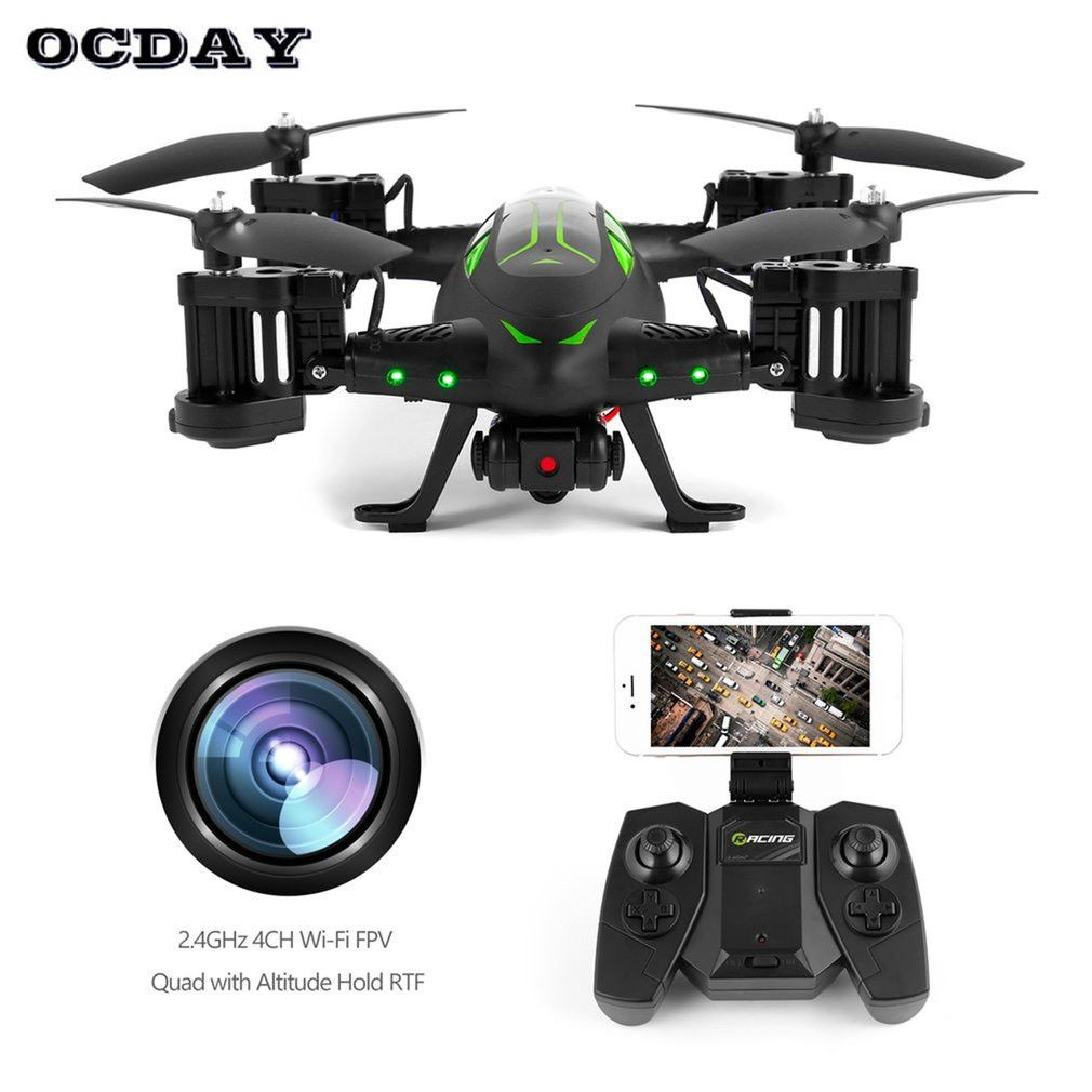 OCDAY RC Drone Air-Road Double Model FY602 Flying Car With HD Camera 2.4G RC Quadcopter Drone 6-Axis 4CH Helicopter Double Sides