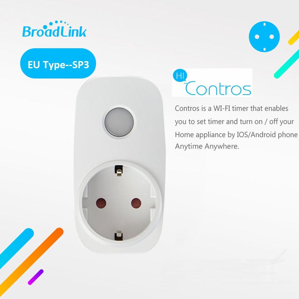 Broadlink SP3 Contros CC EU Plug Wireless Smart Power <font><b>Supply</b></font> Socket 16A Timer Plug Wifi Remote Control Smart Home IOS Android