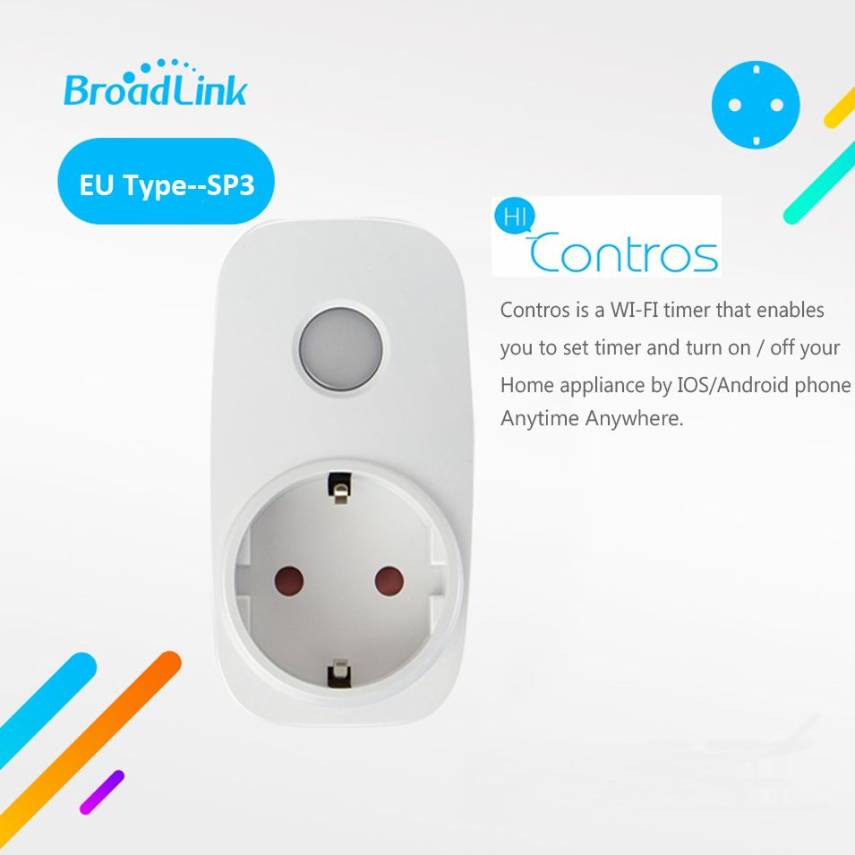 Broadlink SP3 Contros CC UE Plug Sans Fil Intelligent Alimentation Socket 16A Minuterie Plug Wifi Télécommande Maison Intelligente IOS android