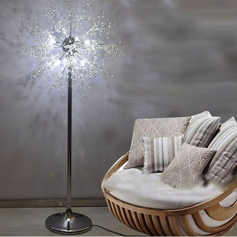 LED Imitate Crystal Floor Lamp Floor Stand Light Fixture Cristal Lustre Wedding Standing Lamp Centerpiece Acryl home hotel