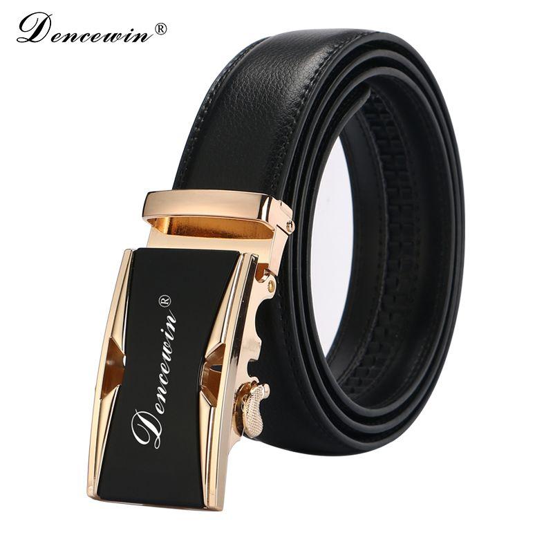 Livraison gratuite 2019 hommes fashion100 % en cuir véritable ceintures pour hommes de haute qualité en métal automatique boucle sangle mâle Jeans cowboy