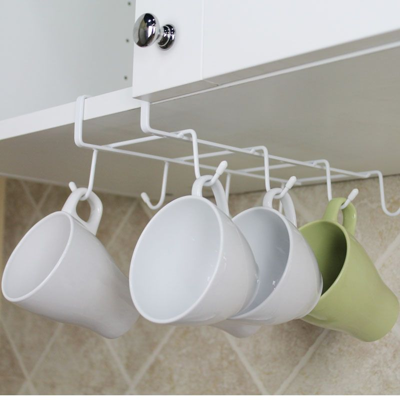 Coffee Cup Storage Racks Cupboard Suspension Shelf Kitchen Tools Supplies Tableware Holders Organizer Home Accessories Products