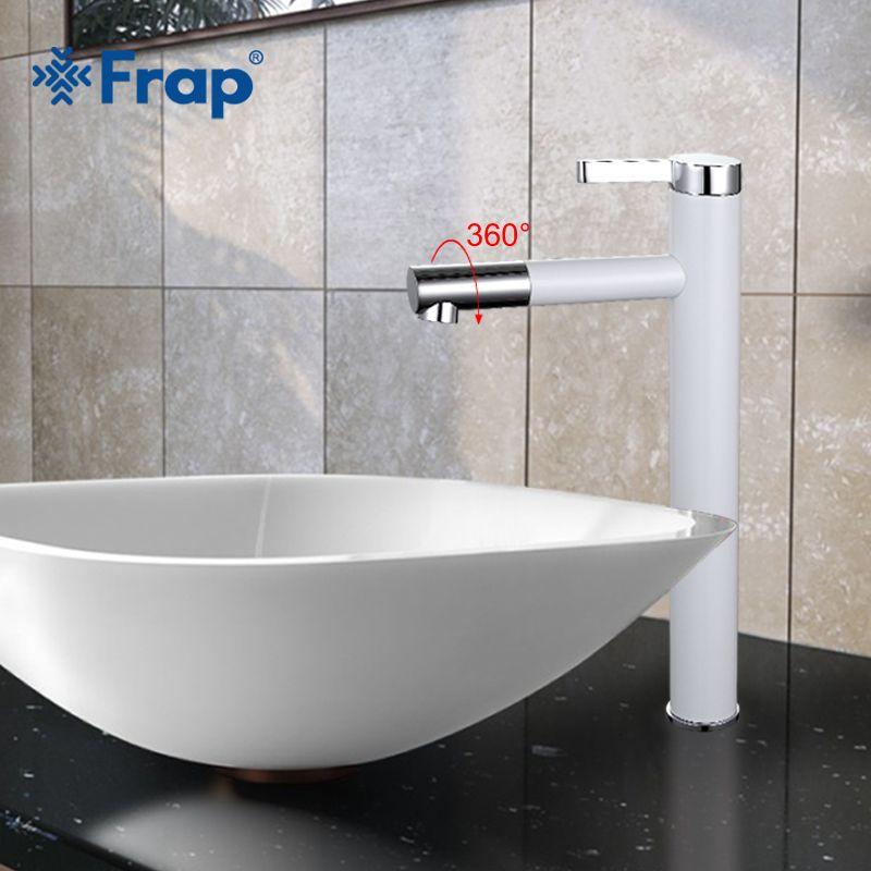 Frap Neue Weiß Spray Hähne Badezimmer Kran Torneira mit Belüfter 360 Frei Drehenden F1052-15