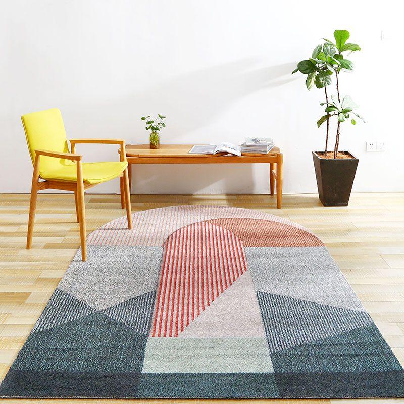 Unique bridge shaped post-morden living room rug, Nordic big size bedside carpet, blue decoration office carpet ,ground mat
