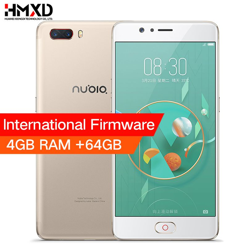 Original ZTE Nubia M2 4G LTE Snapdragon 625 Cell Phone 5.5 1080P 4G RAM <font><b>64GB</b></font> ROM 16.0MP Dual Card 3630mAh Battery Mobile Phone