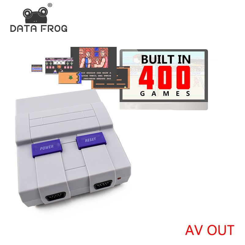 Data Frog Retro Mini Family TV Video Game Console 8 Bit TV Game Consoles <font><b>Built</b></font> In 400 Classic Games Support PAL & NTSC