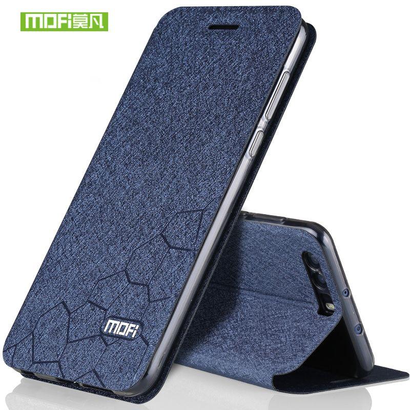 Huawei honor 9 coque silicone luxe flip cuir original mofi Huawei honor 9 coque 5.15 transparent tpu dos métal fundas