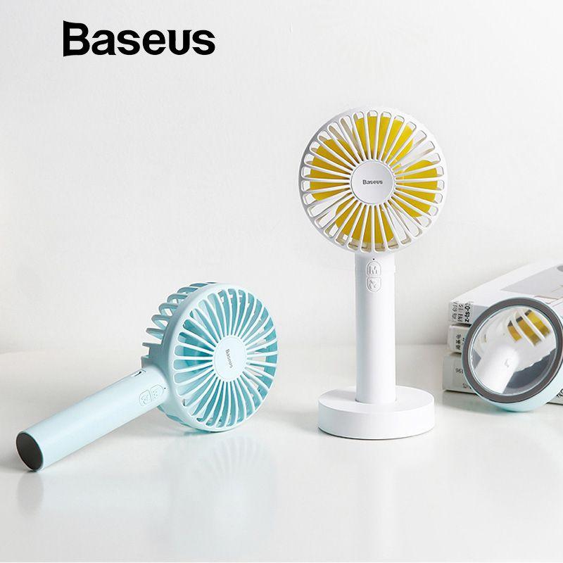 Baseus 2600Amh Akku Fan Office Home Outdoor Tragbare Mini Handheld Fan 3-Geschwindigkeit Einstellbar Desktop Lüfter