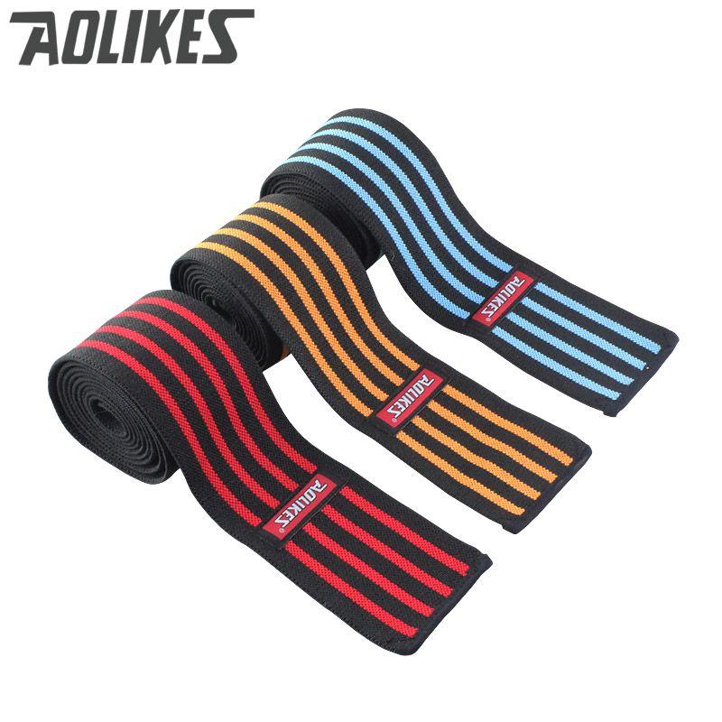 AOLIKES 1 stücke 200*8 CM Knee Wraps männer Fitness Gewichtheben Sport Knie Bandagen Kniebeugen Trainingsgeräte zubehör für Gym