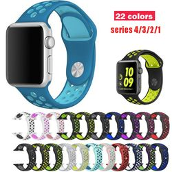 Series 1/2/3/4 Silicone Strap for Apple Watch band Sport  38mm/42mm 40mm 44mm Rubber bracelet For iwatch wristband