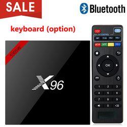 X96 X96W Android 7,1 ТВ Box Мини Box ТВ Amlogic S905W 1 + 8 г 2 + 16 г Поддержка bluetooth 2,4 ГГц Wi-Fi HD 4k медиаплеер телеприставку