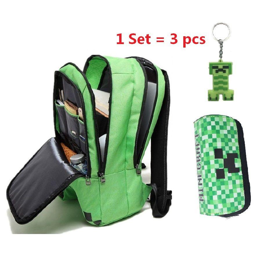 Новый Minecraft рюкзак мальчик девочка Многофункциональный Холст Creeper рюкзаки унисекс Mochilas Infantil de personagem школьная сумка