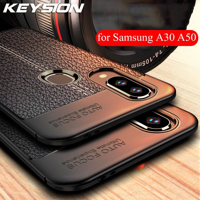 KEYSION Phone Case For Samsung Galaxy A70 A50 A40 A30 A20 A10 M20 M30 Soft TPU Silicone Shockproof Bumper Cover for A7 A9 2018