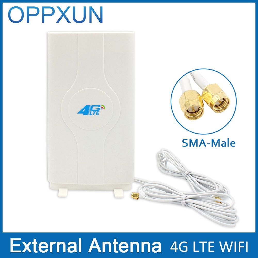 3 г 4 г LTE антенны Мобильные антенны 2-SMA-male Разъем усилитель панельная антенна MIMO с 2 м кабель 700 ~ 2600 мГц 88dBi