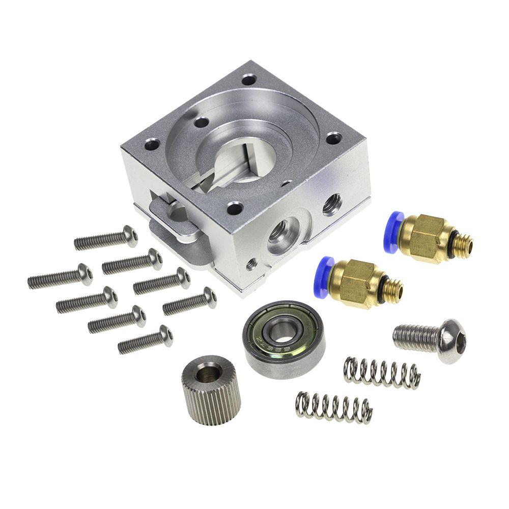 DIY Reprap Bulldog All-metal Extruder for 1.75mm Compatible J-head MK8 Extruder Remote Proximity for 3D Printer Parts