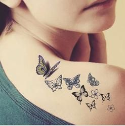 Butterfly tattoo ladies back fresh water transfer female small water-proof stickers tattoo