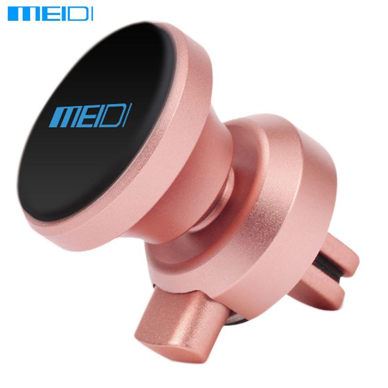 MEIDI Voiture Téléphone stand Magnétique Air Vent Mount Stand 360 Rotation Mobile métal Téléphone Titulaire Soporte Movil Voiture pour iPhone7 Samsung