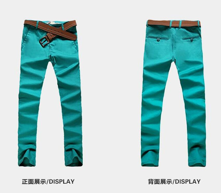 Autumn men's color casual pants cotton versatile self-cultivation