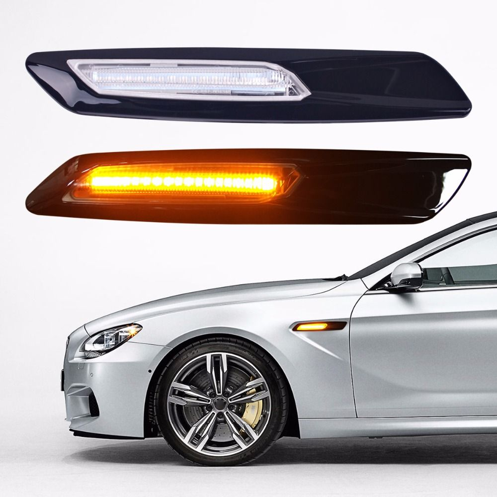 2Pcs Car-styling LED Smoker Side Marker Light Fender Turn Signal Lamp for BMW E81 E82 E87 E88 E90 E91 E92 E60 E61 Accessories
