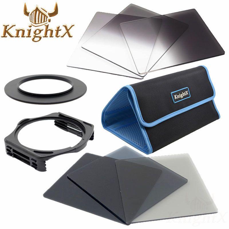 KnightX 49mm 52mm 58mm 67mm 72mm 77mm anneau porte-filtre pour kits de filtres cokin et filtre couleur pour Nikon Canon d5100 DSLR