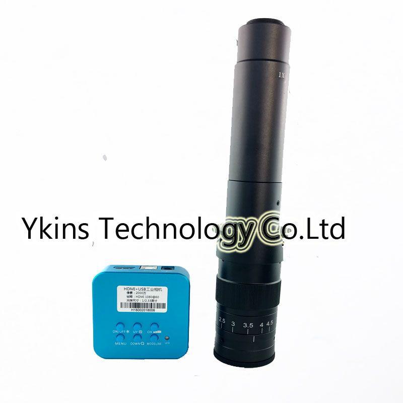 20MP Full 1080P HDMI USB industrial video digital microscope camera +180X 300X C-Mount lens magnification zoom BGA phone repair