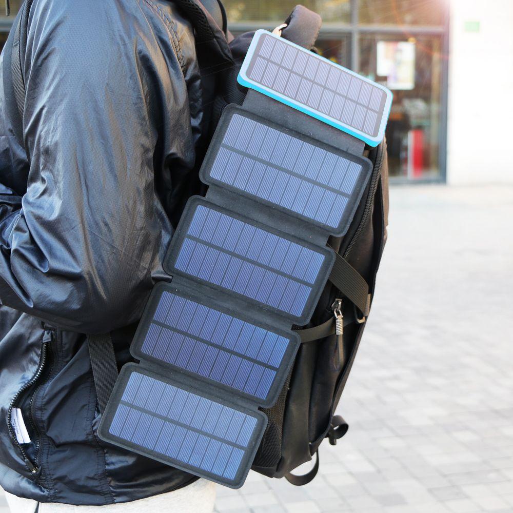20000 mah Solar Power Bank Echt Solar Lade Telefon Externe Batterie Ladegerät für iPhone iPad Samsung Huawei Xiaomi LG Sony.