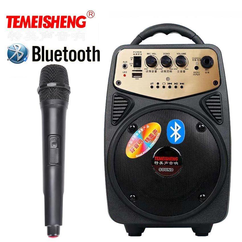 Haut-parleur Bluetooth haute puissance amplificateur de Microphone sans fil haut-parleur Portable batterie au Lithium Support TF carte USB colonne de jeu