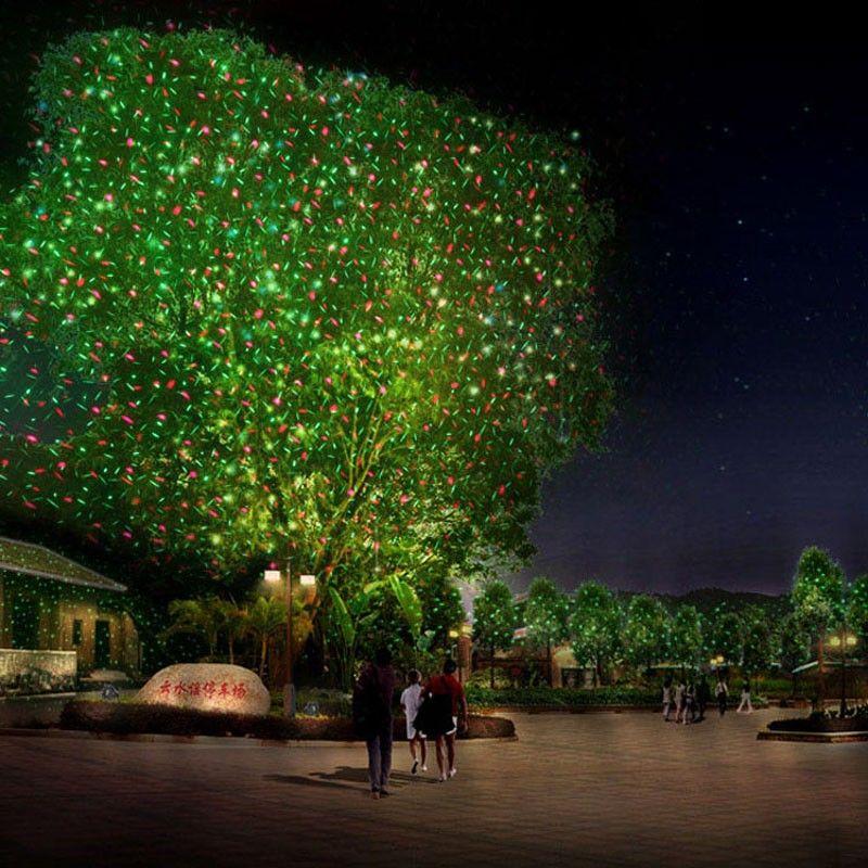 Weihnachten laser lichter projektor Garten Im Freien Bewegung RG Stern Wasserdichte IP65 RF Remote Rot Grün duschen Dekorationen für Weihnachten