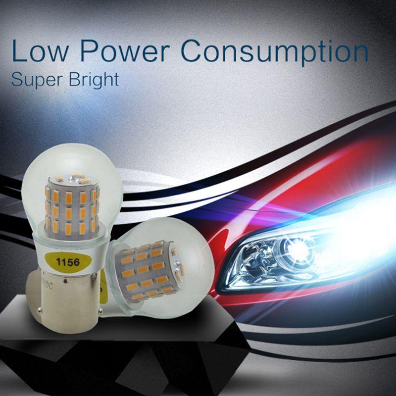 Haute Qualité Led 1156 BA15S P21W Voitures Lumière Source 4 w 12-24 v Queue Ampoule De Frein auto Feux de jour running Light AMYWNTER