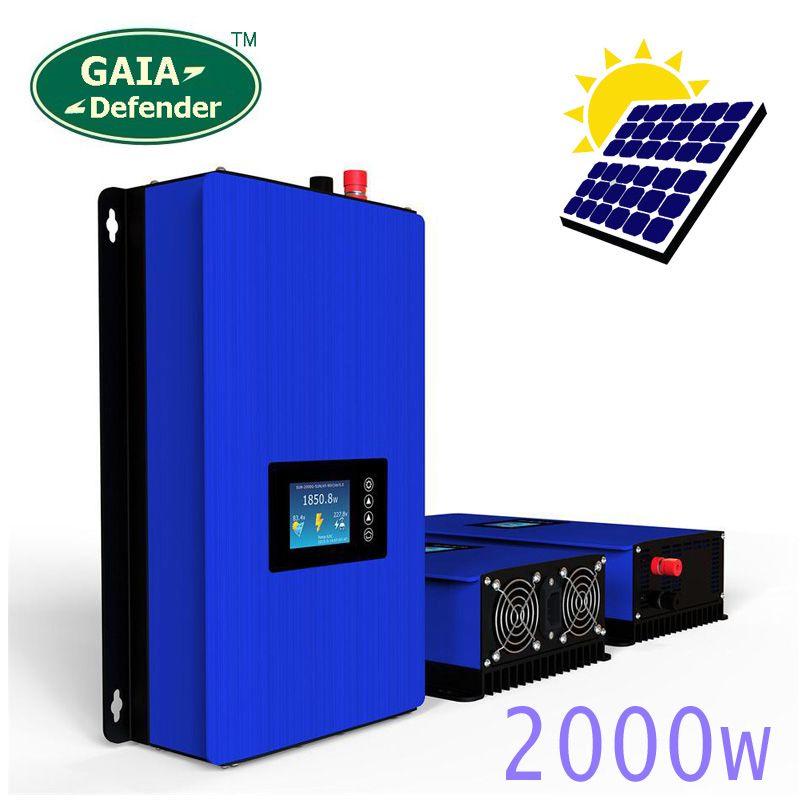 2000W on Grid Tie Inverter Solar Panels Battery Connected Home Power PV System Sun-2000G2 DC45-90V AC 190V-260V Converter WI-FI