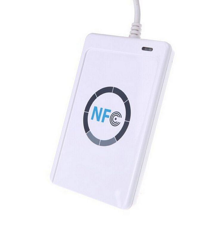JAKCOM USB ACR122u NFC sans contact lecteur de carte à puce copie 13.56 mhz IC écrivain de carte prend en charge tous les 4 types pour R3 Smart Ring