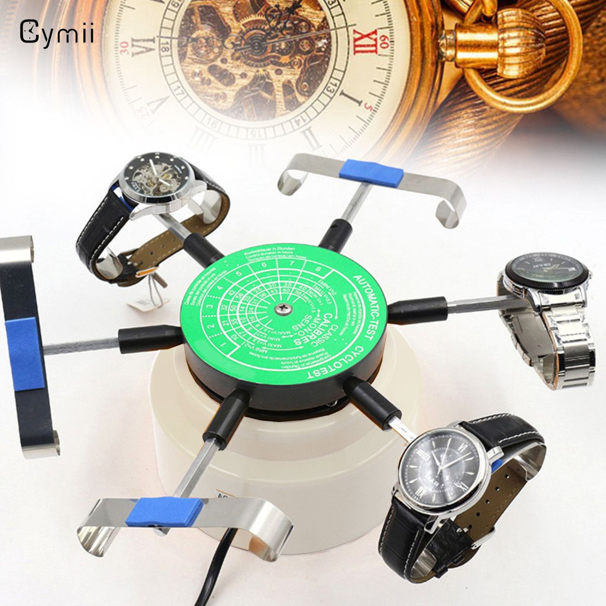 Cymii US Standard 110V-220V Professional Automic-Test Cyclotest Watches Tester Watch Test Machine Six Watches Position