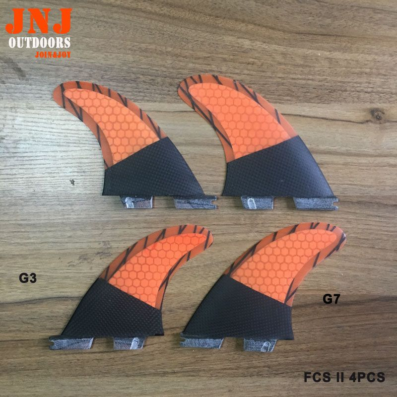 Free shipping surfboard FCS II quad fin thruster mabe by carbonfiber and honeycomb
