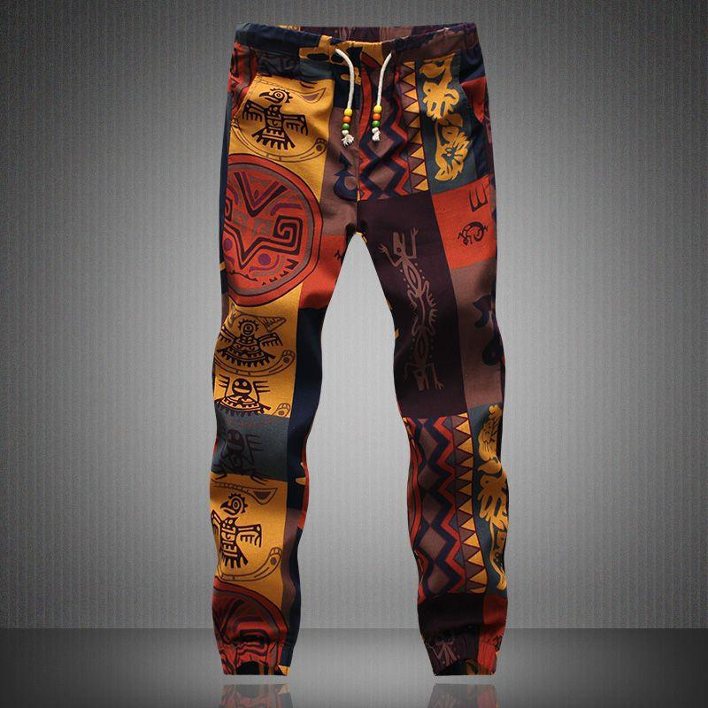 Для мужчин S джоггеры 2016 бренд мужской Мотобрюки Для мужчин Лен Брюки для девочек Повседневные штаны для мужчин Треники Jogger