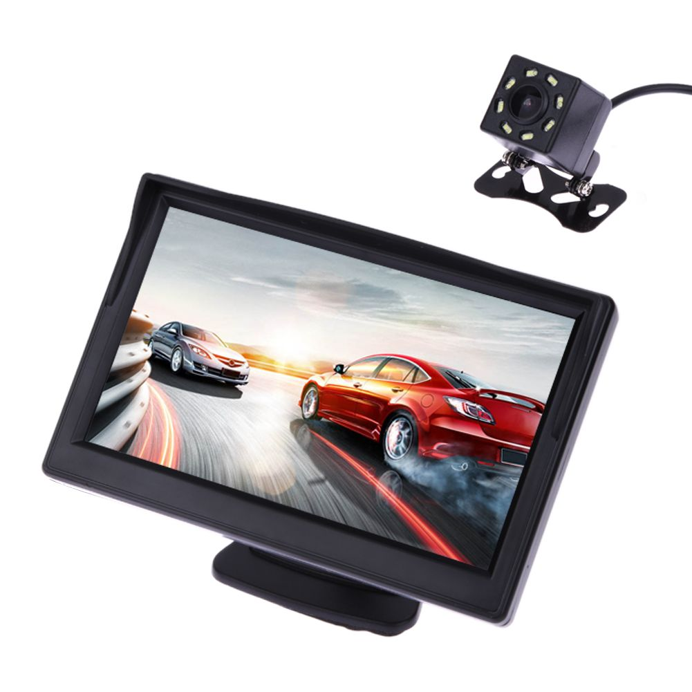 VODOOL 5 Inch TFT LCD Rear View Display Monitor Waterproof Night Vision Reversing <font><b>Backup</b></font> Rearview Camera Quality Car Monitors