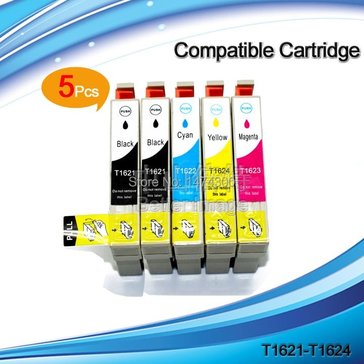 T1621 T1631 10PCS  of ink cartridge for T1621-T1624 T1631-T1634 for EPSON  WF-2010W WF-2510WF WF-2520NF WF-2530WF WF-2540WF