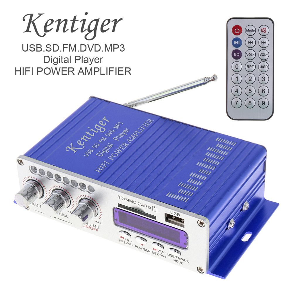 HY502 Digital Display Hi-Fi 50Wx2 2CH Car Stereo Power Amplifier AMP Support for iPod / USB / MP3 / FM / SD Jack Input